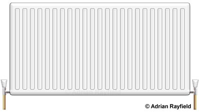 Graphic of a radiator