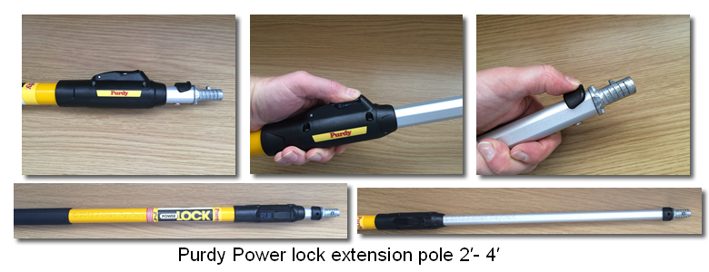 Purdy Power lock extension pole 2′- 4′