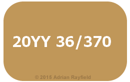 20YY 36/370 colour of the year 2016