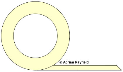Graphic of a roll of masking tape (copyrignt Adrian Rayfield)