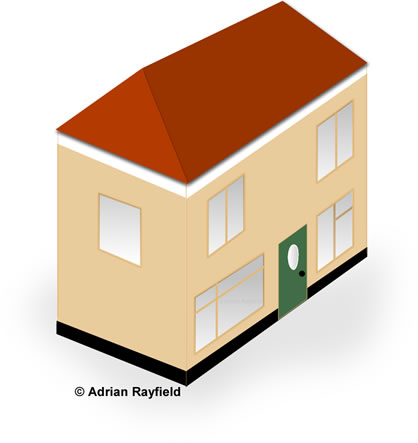Graphic of exterior of house