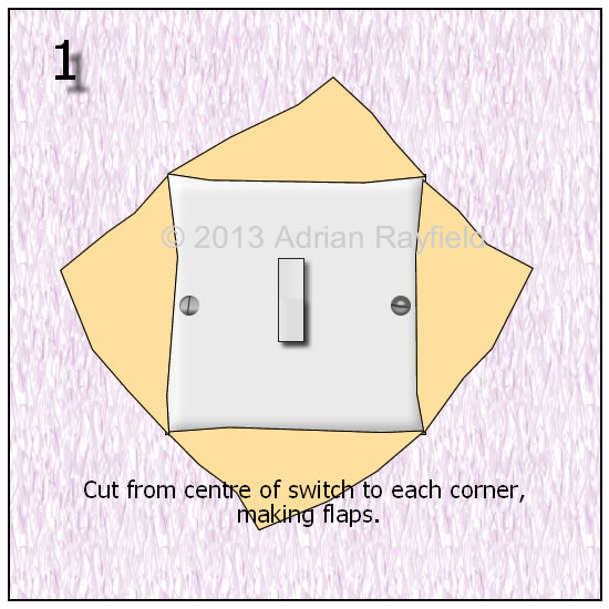 how to get on off light switch out of socket