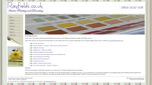Screenshot of Rayfields.co.uk