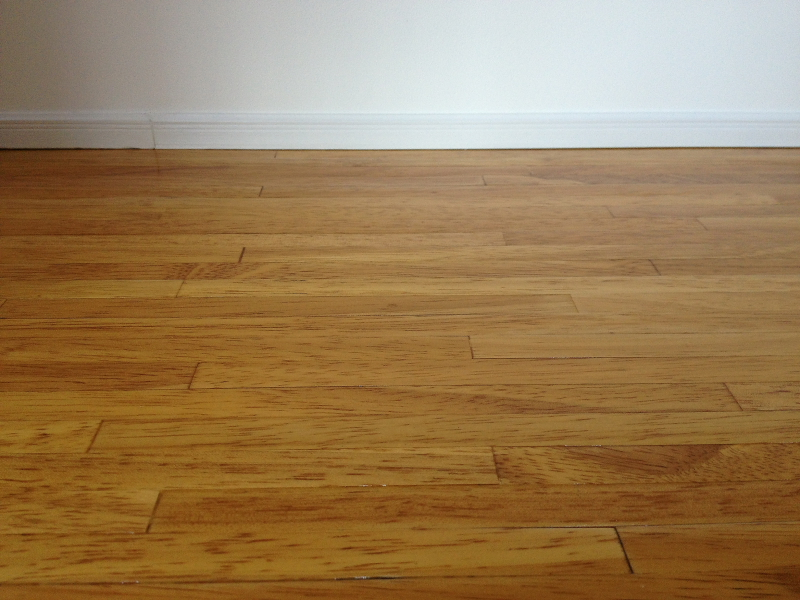 Varnished floor