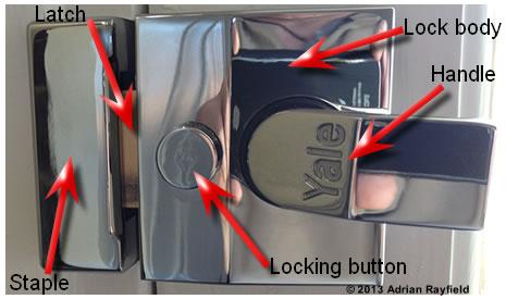 Cylinder rim lock