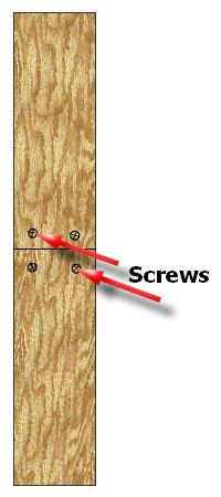 Floorboards screwed down