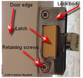 Door and lock edge