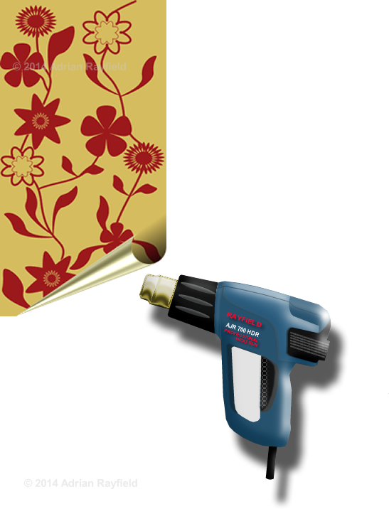Wallpaper and heat gun