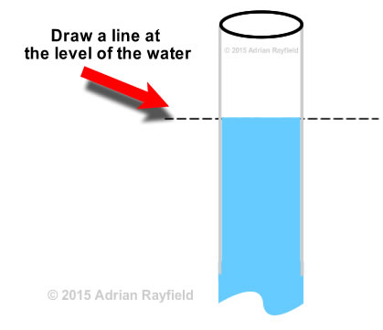 close up water level graphic