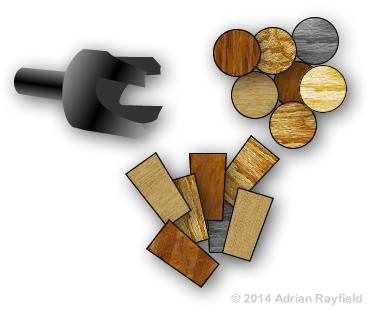 wooden plug cutter
